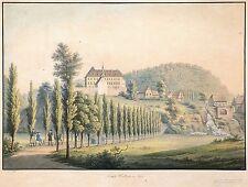 WALBECK (Hettstedt) - Schloss Walbeck - Hammer - kolor. Umrissradierung 1810
