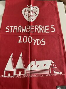 Strawberries Tea Towel Made By Ulster Weavers For Mini Moderns