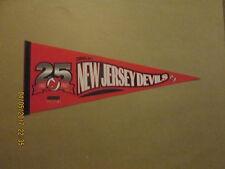 NHL New Jersey Devils Vintage 1982 2007 25 Seasons Logo Hockey Pennant