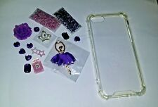 Ultra-thin transparent case for iphone 7 & flatback kawai cabochons deco kit.