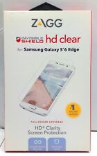 Zagg InvisibleShield HD Clear Screen Protector for Samsung Galaxy S6 edge.
