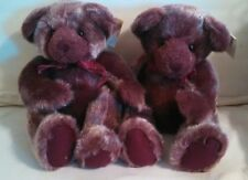 2 Russ Boysenberry plush Teddy bears plum colored