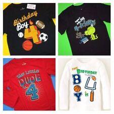 ~New~ 4th Birthday 4 Years Baby Boys Sports Ball Dino Dude Shirts 4T 5T Gift!
