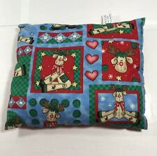 Hospital Auxiliary Christmas Volunteer Lap Pillow Holiday Decoration Reindeer