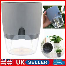 More details for uk self watering automatic planter flower pot home office desktop plant decor
