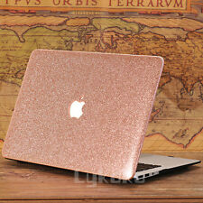 Rose Gold Leather Bling Shiny Glitter Hard Cover for MacBook Air 13 A1369 A1466