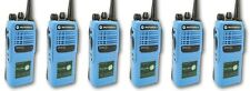 MOTOROLA GP340 UHF ATEX BLUE EX I.S. TWO WAY RADIOS x 6 - (MDH25RCC4AN3BEA)
