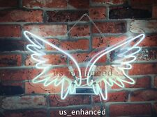 """New Angel Wings Wall Home Decor Handcrafted Real Glass Gift Neon Sign 14""""x10"""""""
