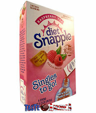 Diet Snapple Raspberry Tea Singles To Go 6 Sachet Drink Mix 20.3g Box