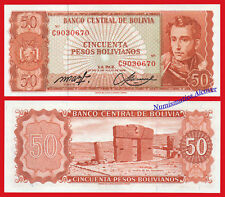 BOLIVIA 50 Bolivianos L. 1962 Pick 162a UNC