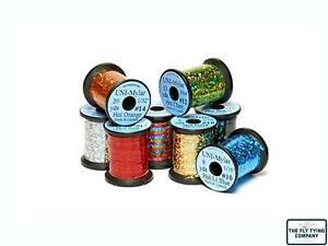 Uni Holographic Mylar   8 Colours   3 Sizes   Fly Tying Holographic Tinsel