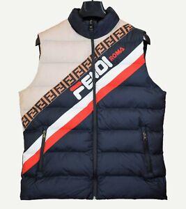 Fendi Vest Logo print Navy size L
