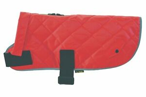Classic Red Waterproof Quilted Warm Padded Fur Lined Dog Coat