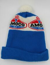 Vtg Amoco Oil Gasoline Winter Beanie Hat