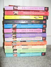 Lot Of 12 CLIQUE/Alphas Softcover Novels By Lisa Harrison