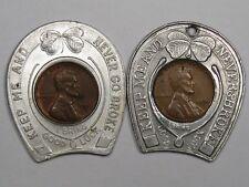 2 Vintage Encased Lincoln Cents. #19