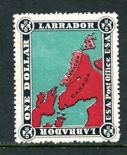 "Newfoundland LABRADOR ""U.S.A. Post Office"" $1 stamp unused"