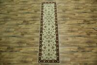 Classic Traditional Floral Runner 3x10 Kaashaan Agra Oriental Rug 9' 9''x2' 6''