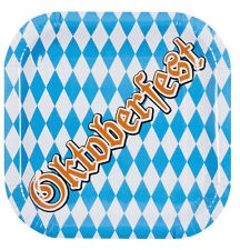 Oktoberfest Partyteller Bavarian NEU - Partyartikel Dekoration Karneval Fasching