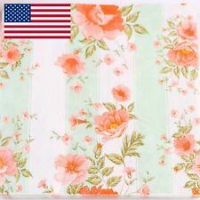 US stock 40pcs Floral Flower Birthday party PAPER NAPKINS Chic Vintage Style P42