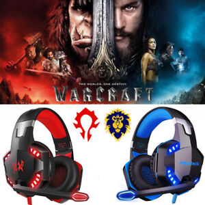 3.5mm Gaming Headset RGB LED Mic Headphones for PC Laptop PS4 PS5 Xbox One X S #