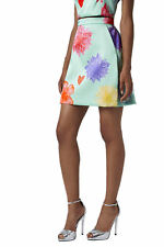 TOPSHOP Floral Heart Limited Edition A-line Short Skirt Mint Green UK 6 8 14 16