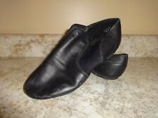 Womens Capezio Dance Jazz Shoes Leather Slip On Black 8.5 Medium & Foot Undeez