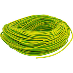 PVC Earth sleeving. Green/Yellow 3mm, 4mm, 6mm. Electrical wire cable
