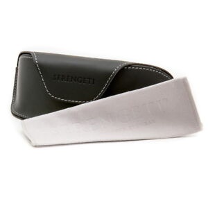 Serengeti Sunglasses Carrying Case & Serengeti Cleaning Cloth  Authorized Dealer