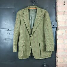 Vintage 80s Polo Ralph Lauren Houndstooth Wool Hunting Jacket Coat Men's 43 R