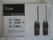 Icom-v82-t / U82 (véritable manuel d'instructions uniquement)....... radio_trader_ireland.