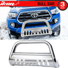 For 16-17 Toyota Tacoma Front Bull Bar With Skid Plate Stainless Grill Guard
