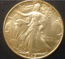 1945 Silver Liberty Walking Half - About Uncirculated