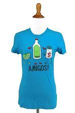 Cinco de Mayo T Shirt XL Juniors Amigos! Tequila Novelty Knit Top ANCHOR BLUE