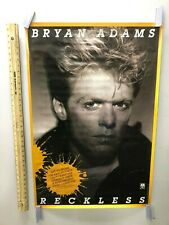 Bryan Adams Reckless rare original promotional poster from 1984 Summer of '69