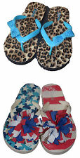 Justice Girls Flip Flops Lot of 2 Pairs Animal Print American Size 2 gm