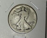 1916-D Walking Liberty Half Dollar Key Denver Mint 1st Year of Series (1-1421)