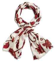 Lucky Brand - NWT $59 -  Vintage Inspired Floral Vines Print 100% Wool Scarf