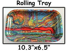 "NUGGS Psychedelic Rolling Tray 10.3"" x 6.5""  $3.99 for USPS Priority Shipping!"