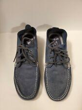 "Crocs ""Walu Chukka"" Blue Leather Lace up Shoes Men Size M9"