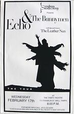 Echo & The Bunnymen 1993 Tampa Concert Tour Poster-Ian McCulloch, New Wave Music