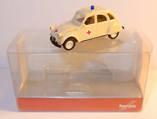 HERPA HO 1/87 CITROEN 2CV 6 DRK CROIX ROUGE RED CROSS AMBULANCE EMERGENCY IN BOX