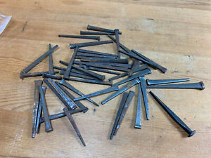 """Vintage 10 oz Square Cut  2 1/2"""" Inch Nails w/ Square Heads -FREE SHIPPING"""