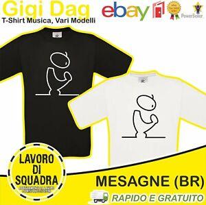 T-Shirt - Gigi D'Agostino Dag Dj Disk Ba Be Black Blue Streak Disk Gift