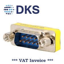 DSUB Gender Changer Adapter 9M / 9M 9pin Plug Both Sides 001319