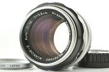 [Rare PAT PEND] Nikon Nippon Kogaku Nikkor S Auto 5.8cm 58mm F1.4 Lens JAPAN 176