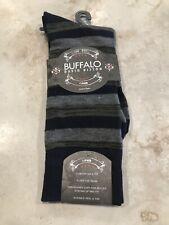 New Buffalo David Bitton Men's Novelty Dress Socks 1 pair black/gray