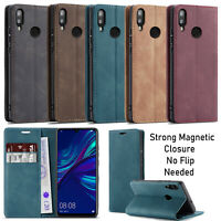 For Honor 10 Lite P Smart 2019 Case Luxury Leather Wallet Flip Cover Folio Stand