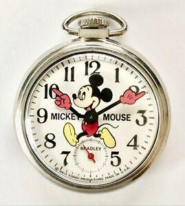 Vintage Mickey Mouse Bradley Pocket Watch