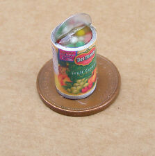 1:12 Scale Open Tin Of Fruit Cocktail Dolls House Kitchen Food Can Accessory
